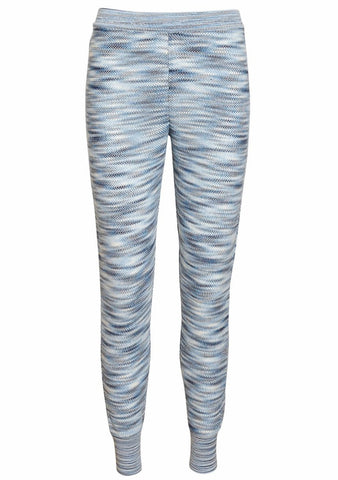 Missoni Blue Knit Track Pants