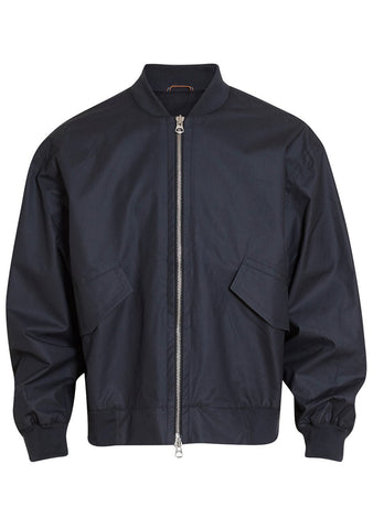 Martin Asbjørn Navy Oversized College Bomber LOT#29