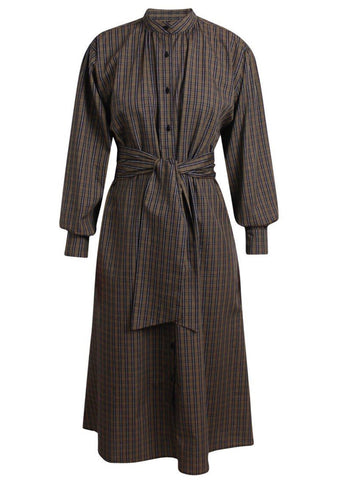 Britt Sisseck Olive Check Silvial Dress