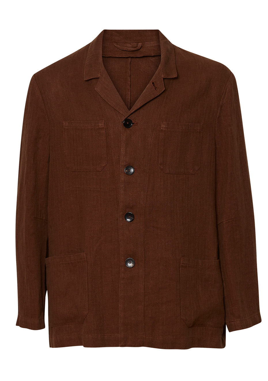 Brown Linen Jacket