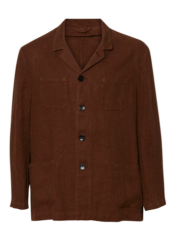 Etro Brown Linen Jacket shop online at lot29.dk