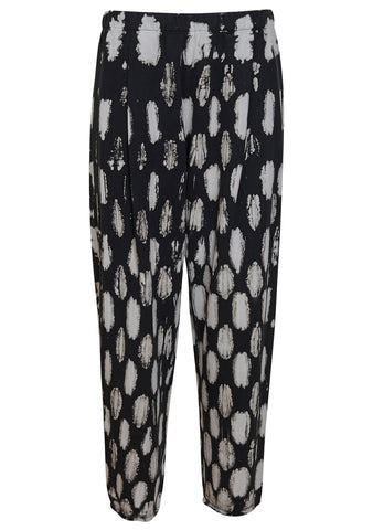 Raquel Allegra Black Fleece Easy Sweatpants