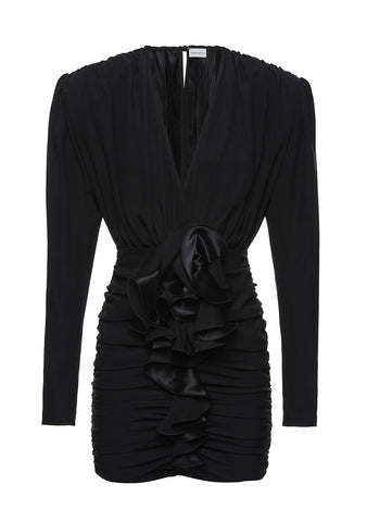 Magde Butrym Burgos Black Ruched Mini Dress shop online at lot29.dk