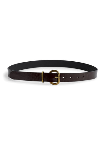 Rachel Comey Thin Estate Belt Burgundy Patent