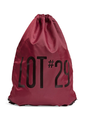 lot #29 Burgundy Logo Gym Bag