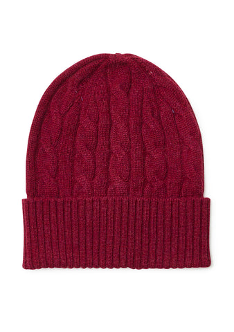 Bad Habits Burgundy Cashmere Hat