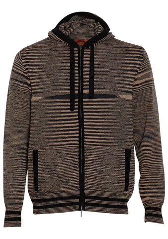 Missoni Men Striped Cashmere Zip Sweater