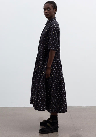 Cecilie Bahnsen Primrose Floral Cotton Shirt Dress