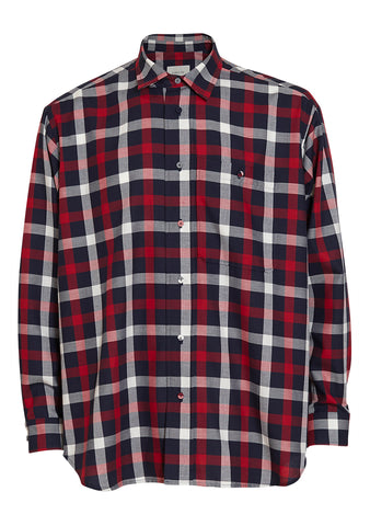 Tonsure Checked Oversize Shirt