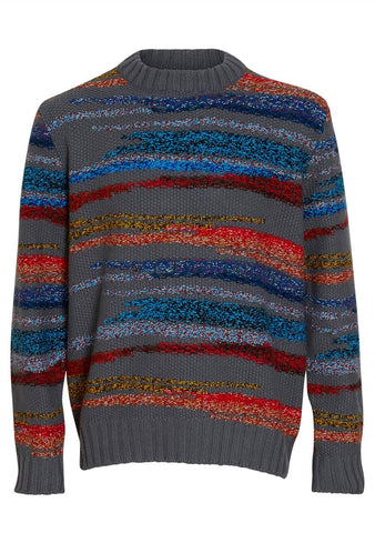 Missoni Multicolor Striped Crewneck Sweater