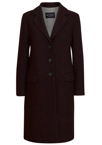 Etro Houndstooth Wool Coat