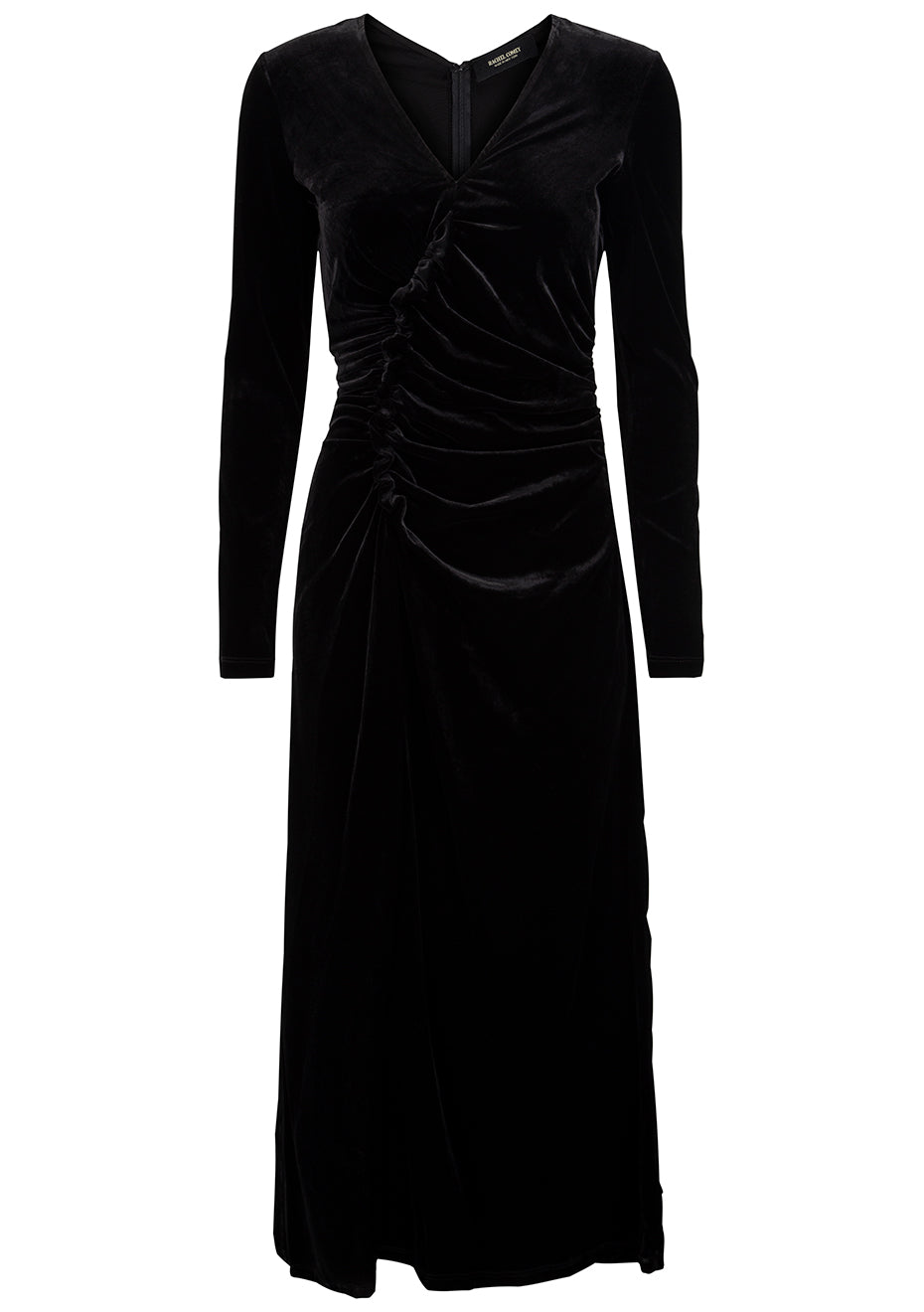 Lateral Dress Black Velvet