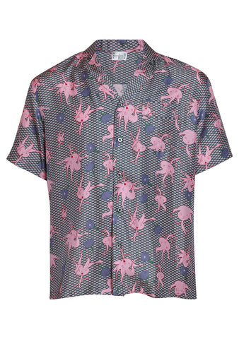 All At Sea Copenhagen Rosehip Wave Cuban Shirt