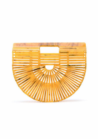 Cult Gaia Marigold Ark Small Clutch LOT#29