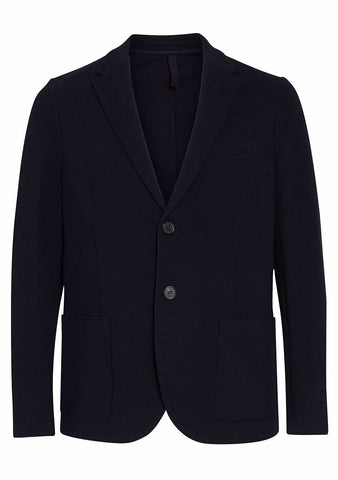 Harris Wharf London Dark Blue Waffle Knit Blazer