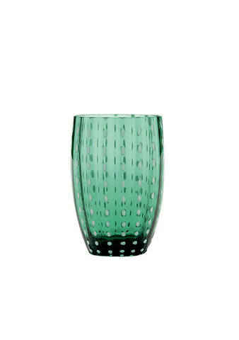Zafferano Dark Green Perle Tumbler