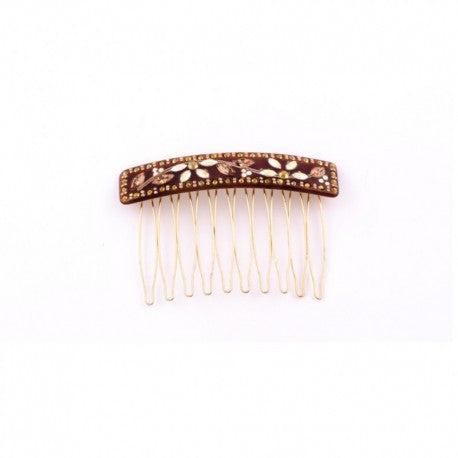 Brown Haircomb Clip