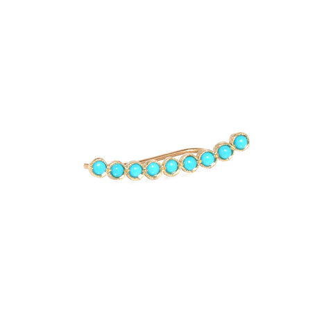 Nine turquoise ear shield