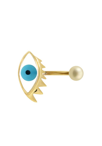 Delfina Delettrez Light Blue Eye Piercing Ring