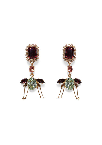 Erdem Ladybird Drop Earrings