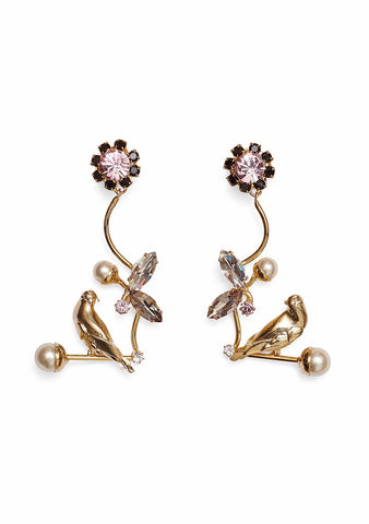 Erdem Bird Filigree Drop Earrings