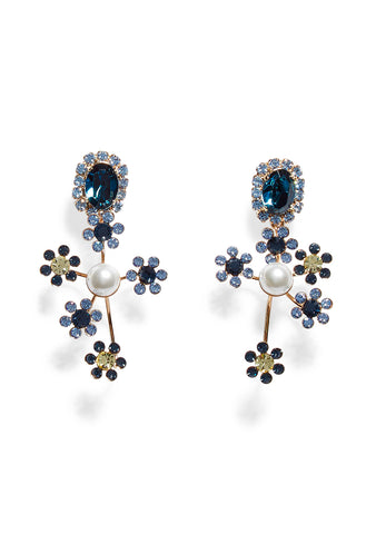 Erdem Floral Cluster Earrings