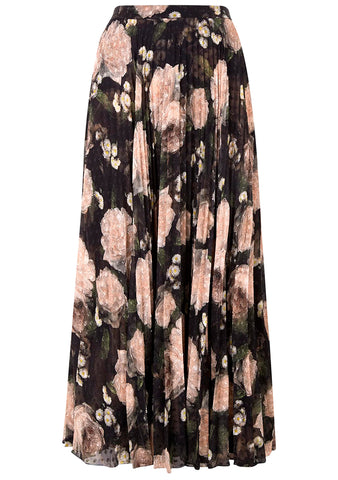Erdem Nesrine Pleated Midi Skirt