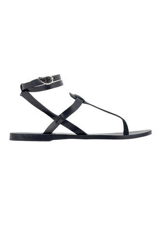 Ancient Greek Sandals Black Estia Sandals