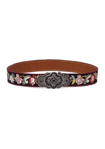 Etro Embellished Embroidered Belt