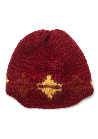Etro Red Geometric Hat
