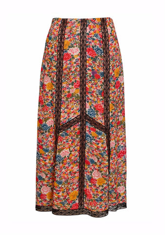 Etro Floral Lace Skirt