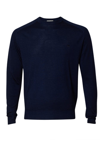 Etro Navy Crewneck Sweater shop online at lot29.dk