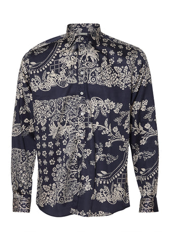 Etro Blue Printed Shirt shop online at lot29.dk