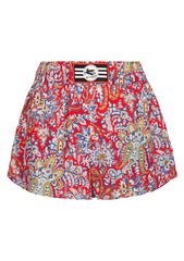 Etro Red Printed Shorts