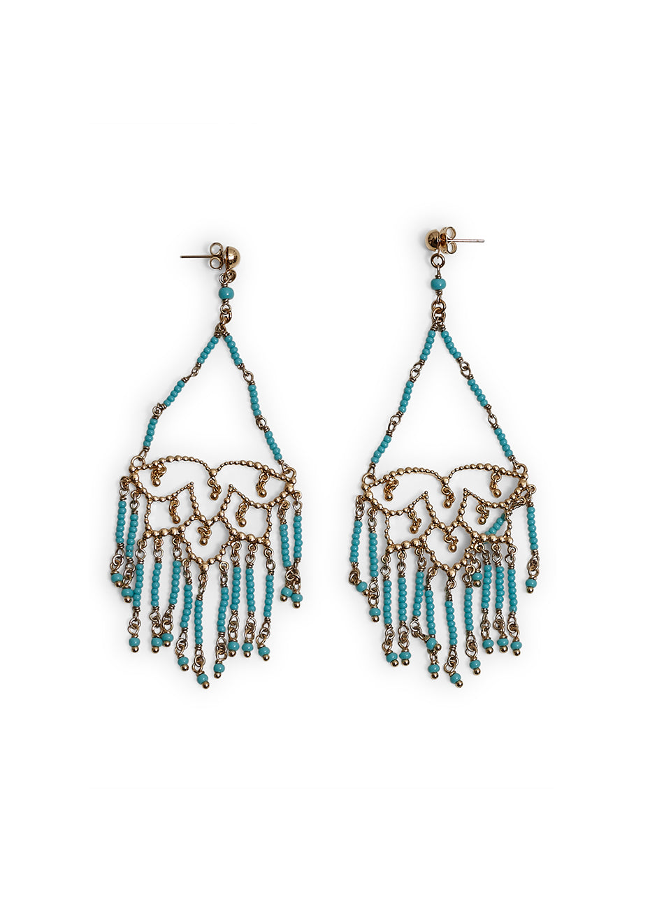 Lotus Fringe Earrings