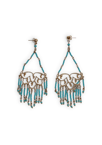 Etro Lotus Fringe Earrings shop online at lot29.dk