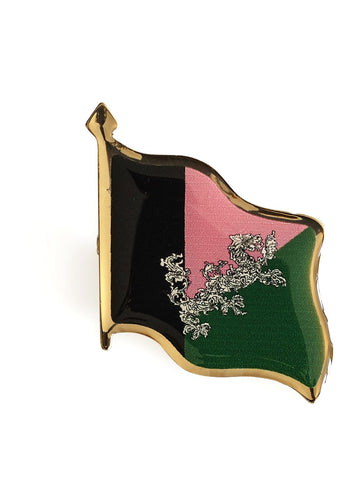 Enamel Flag Brooch