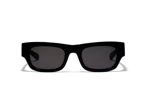 Frankie Solid Black Sunglasses