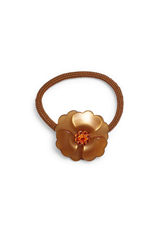 MC Davidian Brown Flower Hair Elastic