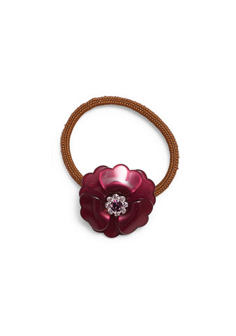 MC Davidian Burgundy Flower Hair Elastic