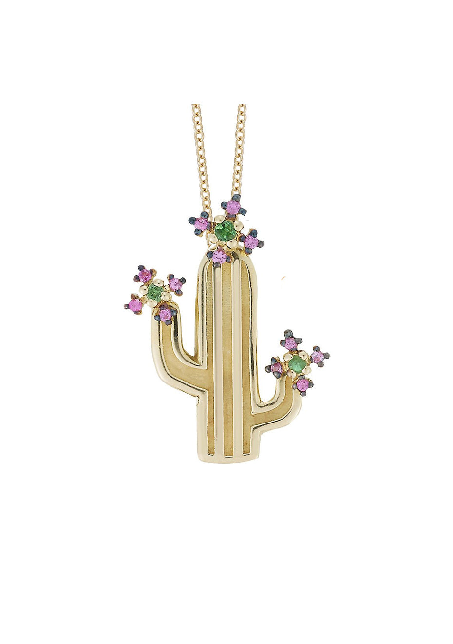 Flower Cactus Necklace