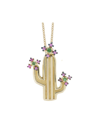 Ileana Makri Flower Cactus Necklace