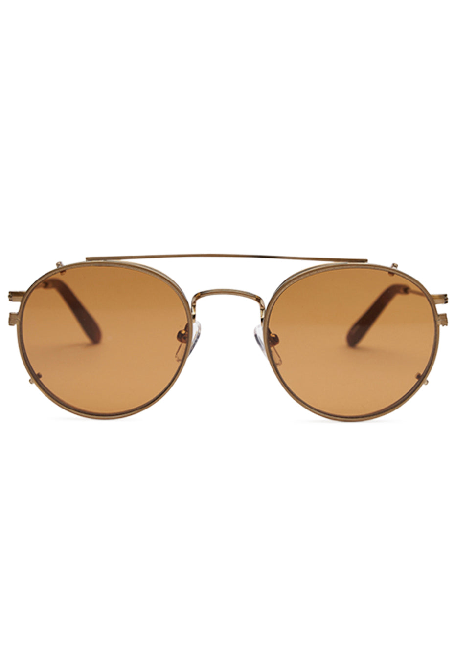 Brushed Gold Berg Sunglasses