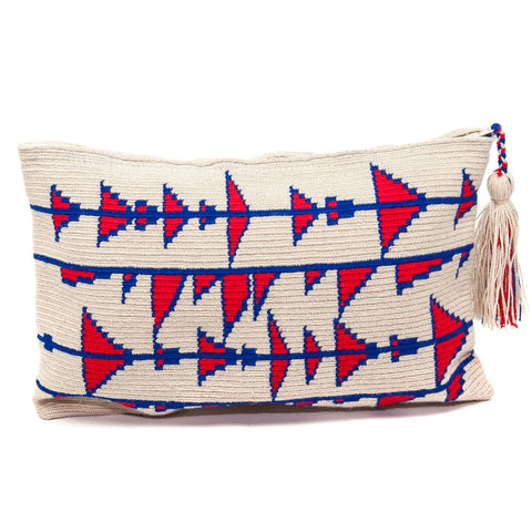 Blue and Red Wayuu Clutch