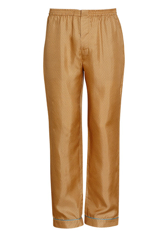 All At Sea Cph Gold Armor Silk Pyjama Pants