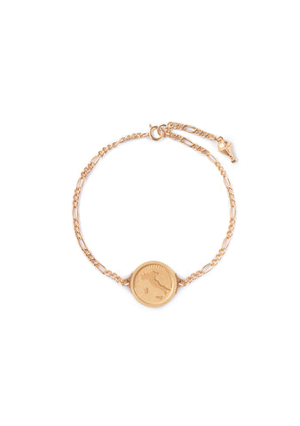 Italy Figaro Gold Plated Bracelet - Women