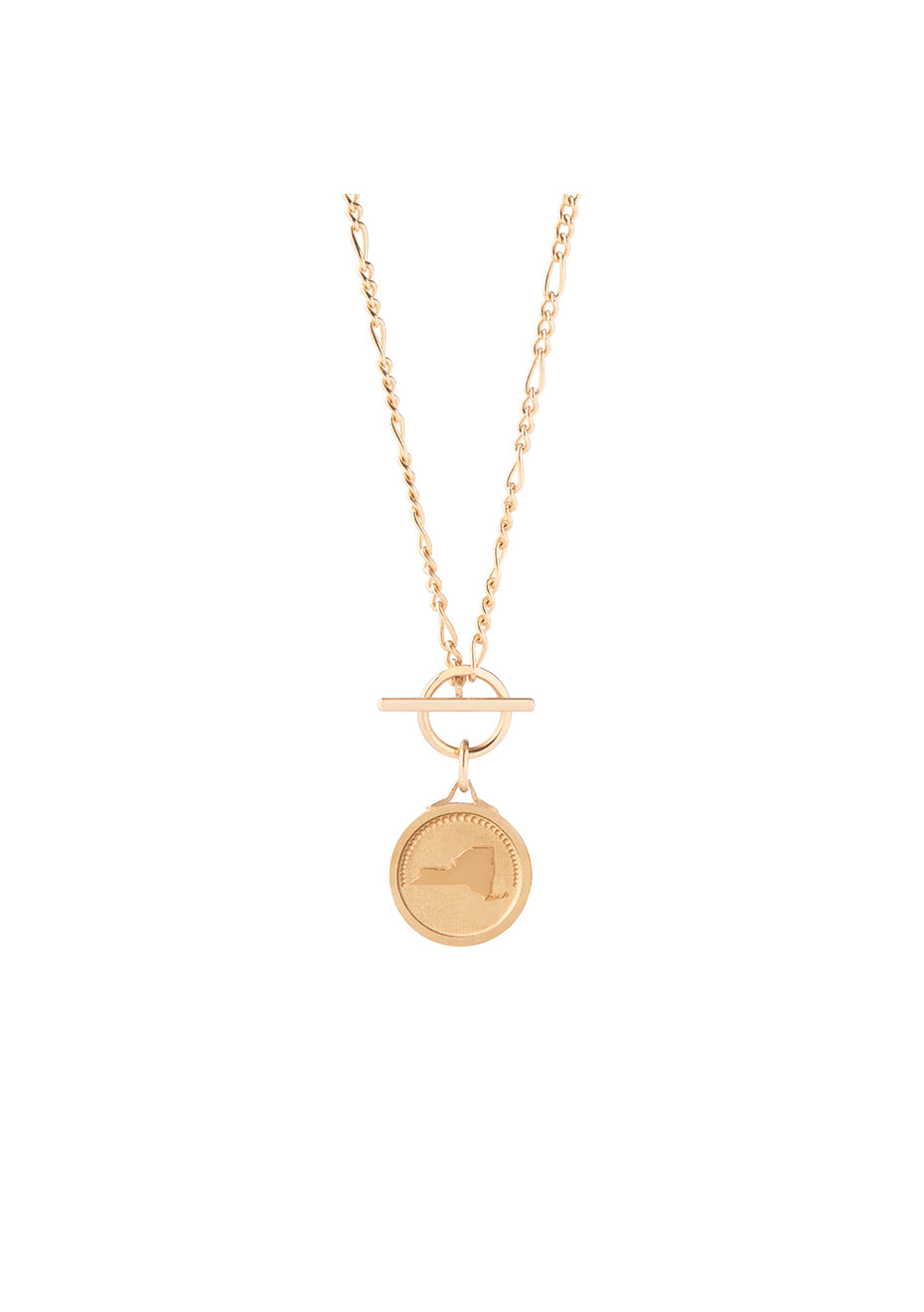 New York Figaro T-lock Gold Plated Necklace - Women
