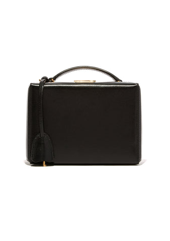 Mark Cross Black Small Mini Box Bag