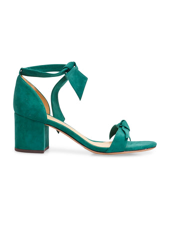 Alexandre Birman Clarita Forest Green Suede Sandals