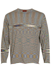 Missoni Green Striped Knit Sweater